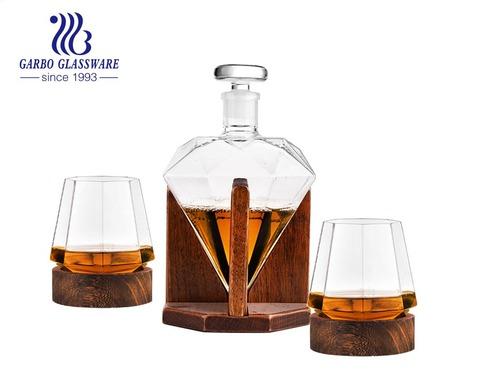 29 أوقية الماس زجاجة ويسكي الزجاج الدورق الزجاج شرب مجموعة من 7 قطع 5 قطع مع 14 أوقية كأس الزجاج