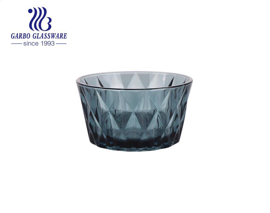 1400 مللي بالجملة رخيصة صنع آلة الوردي رش صحن سلطة الزجاج الشفاف الملون مع تصميم حسب الطلب