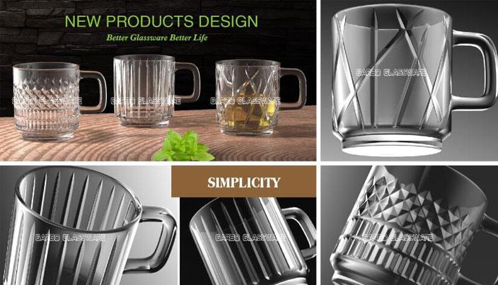 3 new designs coffee drinking glass mugs