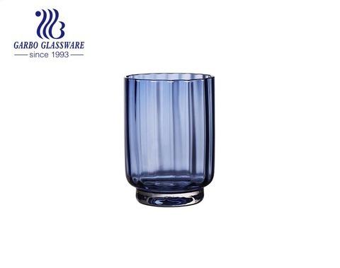 Dụng cụ thủy tinh màu xanh lam chất lượng cao 400ml cho nước uống nước trái cây