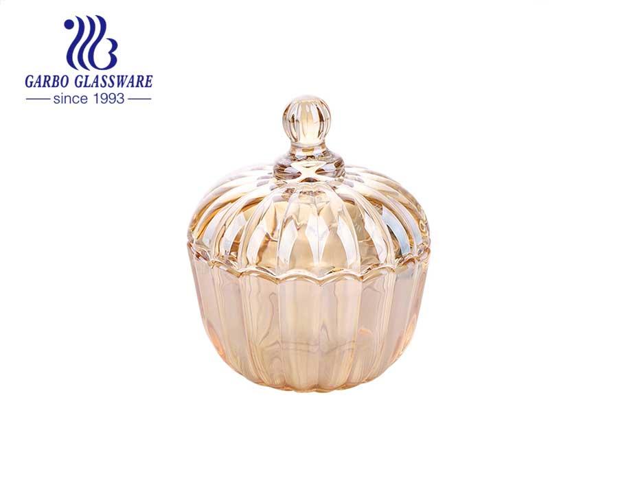 جولدن جلاس 2.7 بوصة 45 مل برطمانات زجاجية صغيرة مع غطاء للديكور المنزلي
