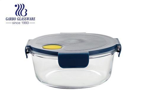 Hộp bảo quản thực phẩm kín nắp trong suốt lò nướng hộp đựng thực phẩm bằng thủy tinh an toàn trên Amazon Bộ lưu trữ thực phẩm bằng thủy tinh tròn bán chạy