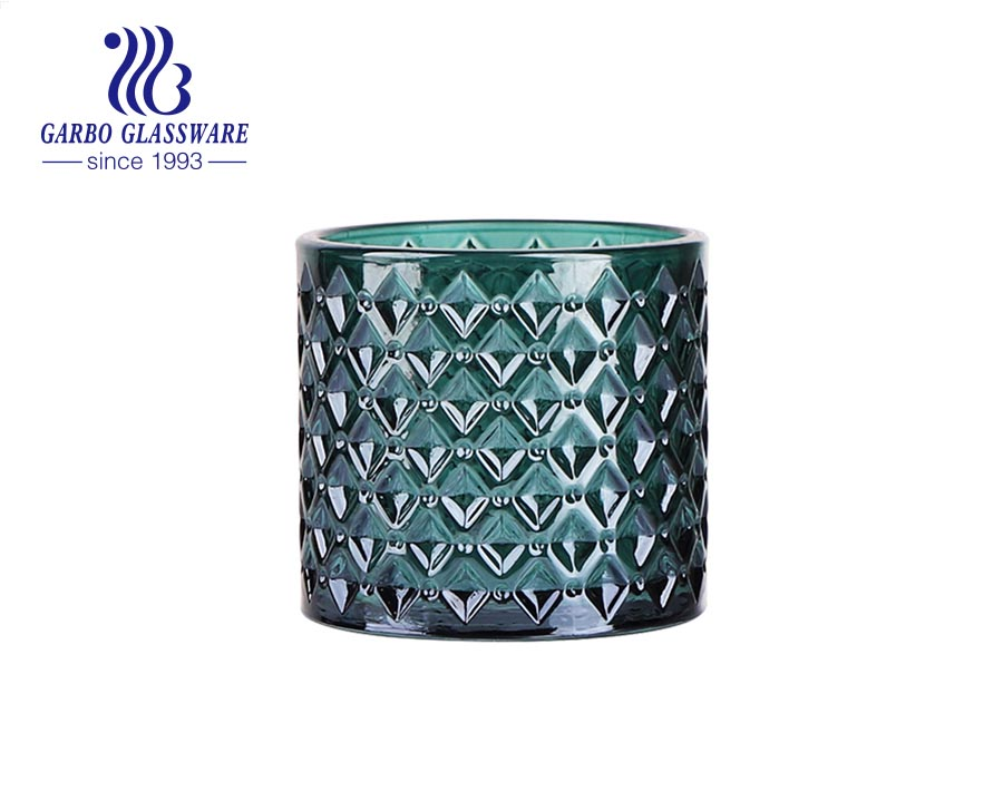 Green Glass Tealight candle Holder for Table Centerpiece Room Decor Wedding