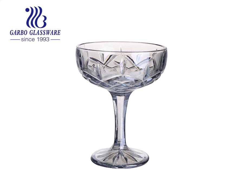 Smoky Grey stemware 4.2 Inch  Ice Cream Cup Chamgpange glass cup dessert glass bowl