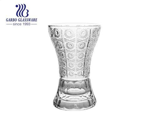 Middle East Waist Type Sunflower design glass flora holder glass storage bottle glass vase