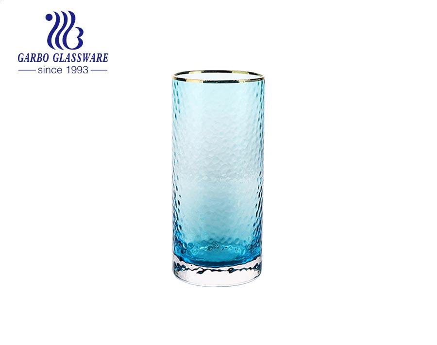 320 مللي أكواب زجاجية ملونة طقم شرب المياه أدوات المائدة