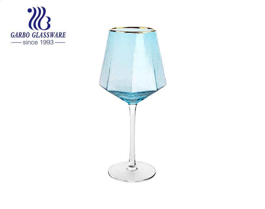 500ml màu xanh lam rắn màu ly thủy tinh cốc uống rượu cho quầy bar
