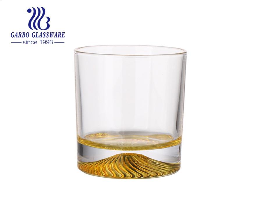 الصين الأواني الزجاجية Langxu العلامة التجارية مباشرة في مخزون الزجاج بهلوان مع قاعدة بركان الكثبان الصحراوية