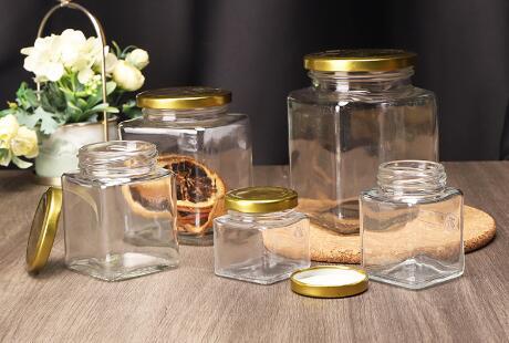 ¿Cuál es la función de los frascos de almacenamiento de vidrio?