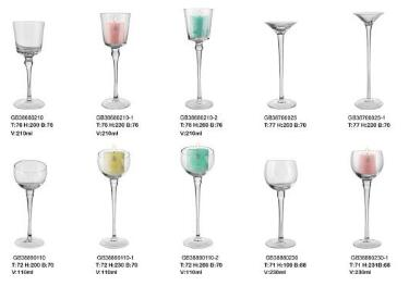 venta caliente cristalería de orden pequeña decoración de vidrio personalizado