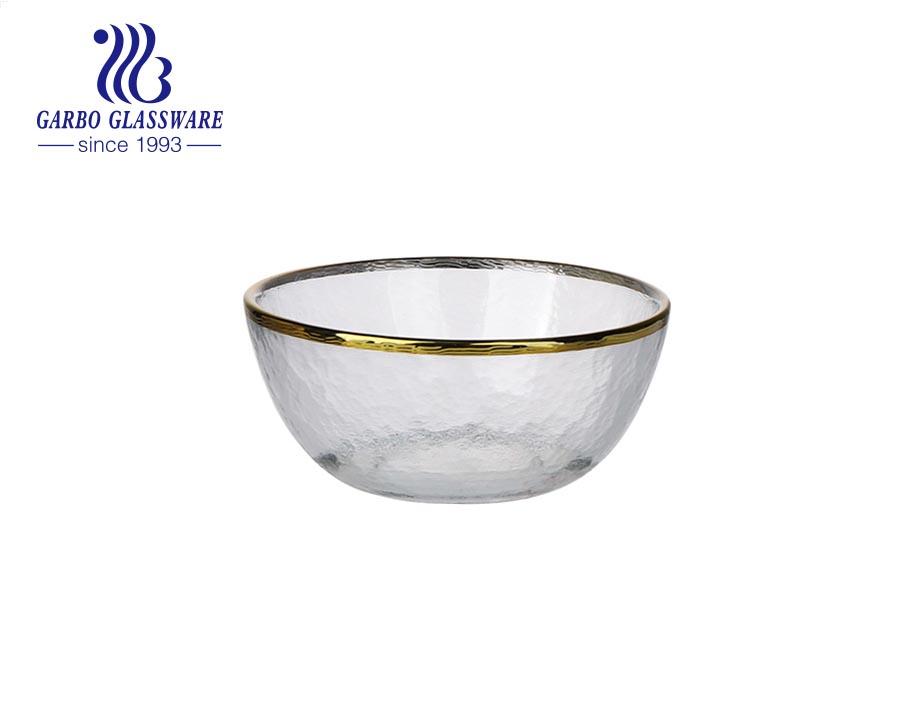 العلامة التجارية عالية الأبيض مخزنة زهرة اللوتس شكل البسكويت سلطة الفاكهة وعاء زجاجي مع تصميم حسب الطلب
