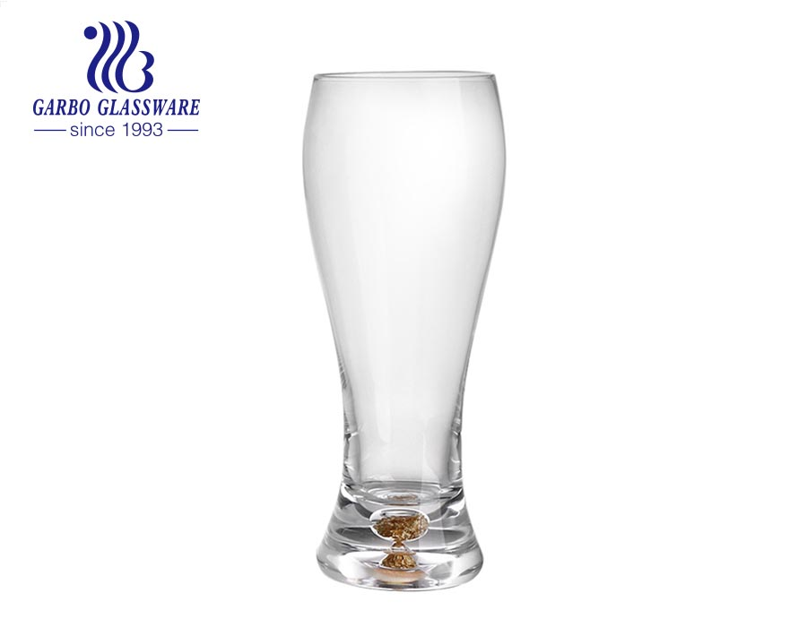 2021 new arrival beer glass tumbler pilsner glass cup with hollowed base for gold foil