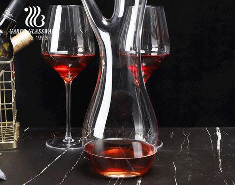 شكل فريد من نوعه أواني نبيذ جذع شجرة المنشعب شكل 1500 مللي إناء نبيذ مصنوع يدويًا
