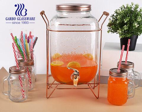 8L موزع زجاجي عالي الجودة مع صنبور لشرب عصير البيرة بالفندق باستخدام