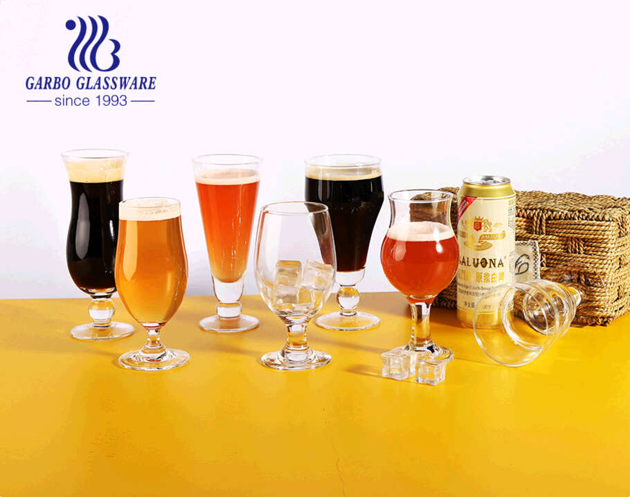 Classic Belgian Beer Glasses 13-ounce for Bar Party