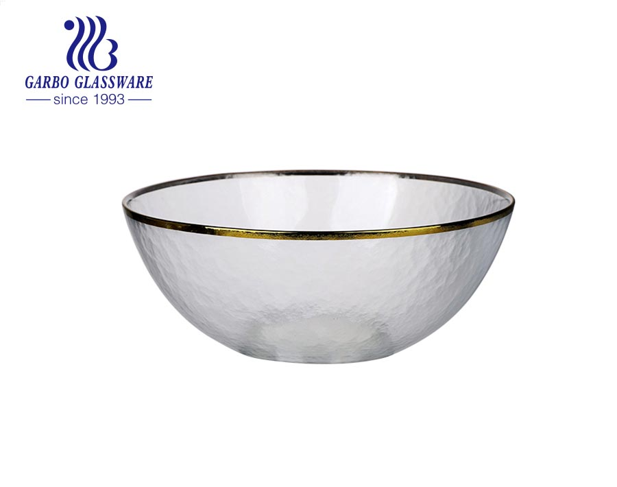 زيتون أخضر بالجملة داخل الفضة خارج وعاء سلطة فواكه زجاجي مسطح للاستخدام اليومي