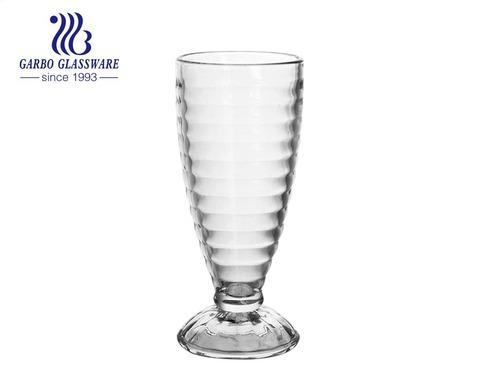 Factory Wholesale 12oz Milk shape Ice Cream Glass Bowl Soda-lime glass cup