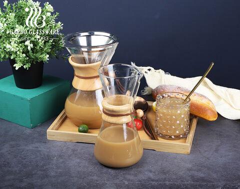 注ぎ口付きの大型ホウケイ酸54オンスガラスコーヒーカラフ