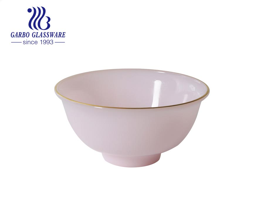 Wholesale purple color glass rice bowls for household kitchen utensils