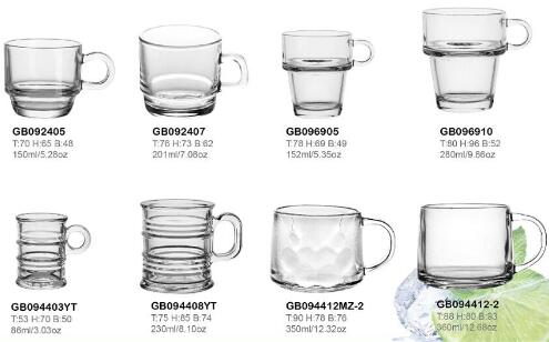 Garbo Glassware hot selling glass mugs with special shape