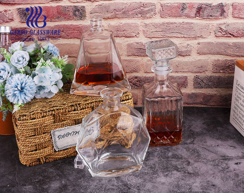Chất lượng cao bình đựng rượu bằng thủy tinh pha lê bình đựng rượu whisky thủy tinh mát lạnh chất lượng cao