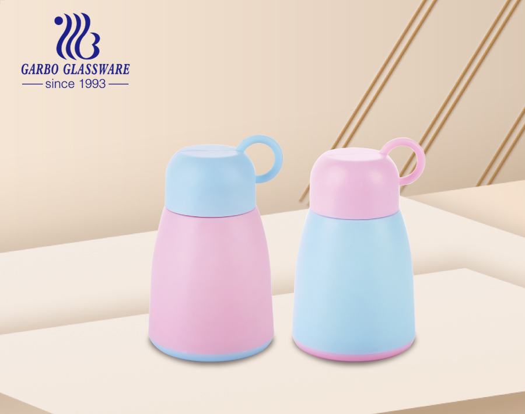 Chai thủy tinh 350ml thể thao thủy tinh lưu trữ chai nước trà cà phê có nắp xoay và nắp nhựa