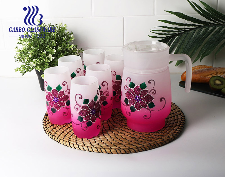 7pcs hot sale africa water and juice drinking set for wedding using