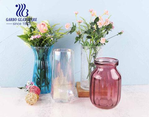 Fashion future series five star glass vase flora holder rainbow color home decoration glasses
